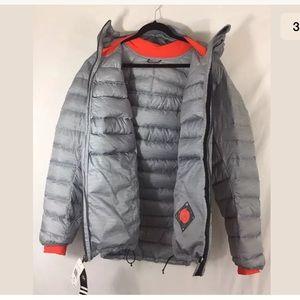 adidas Jackets & Coats - Adidas Goose Down Feather Gray Puffer Jacket